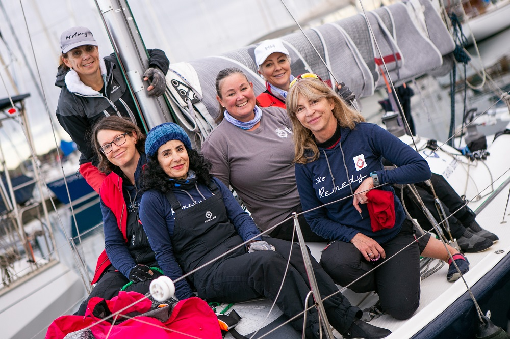 Light breeze escape on Day 1 of Australian Women's Keelboat Regatta