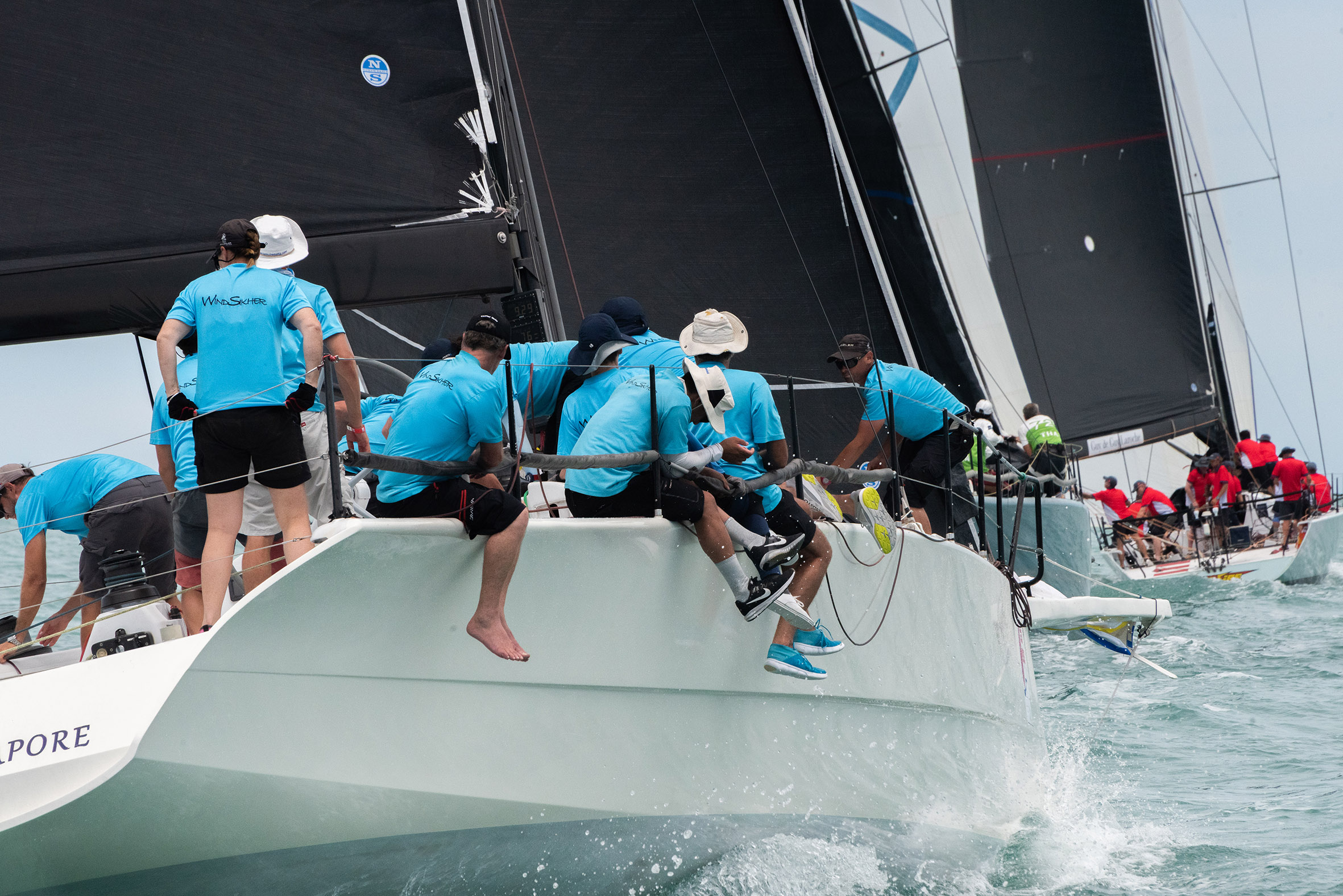 Stellar fleet line-up on Day 1 of Samui Regatta 2019