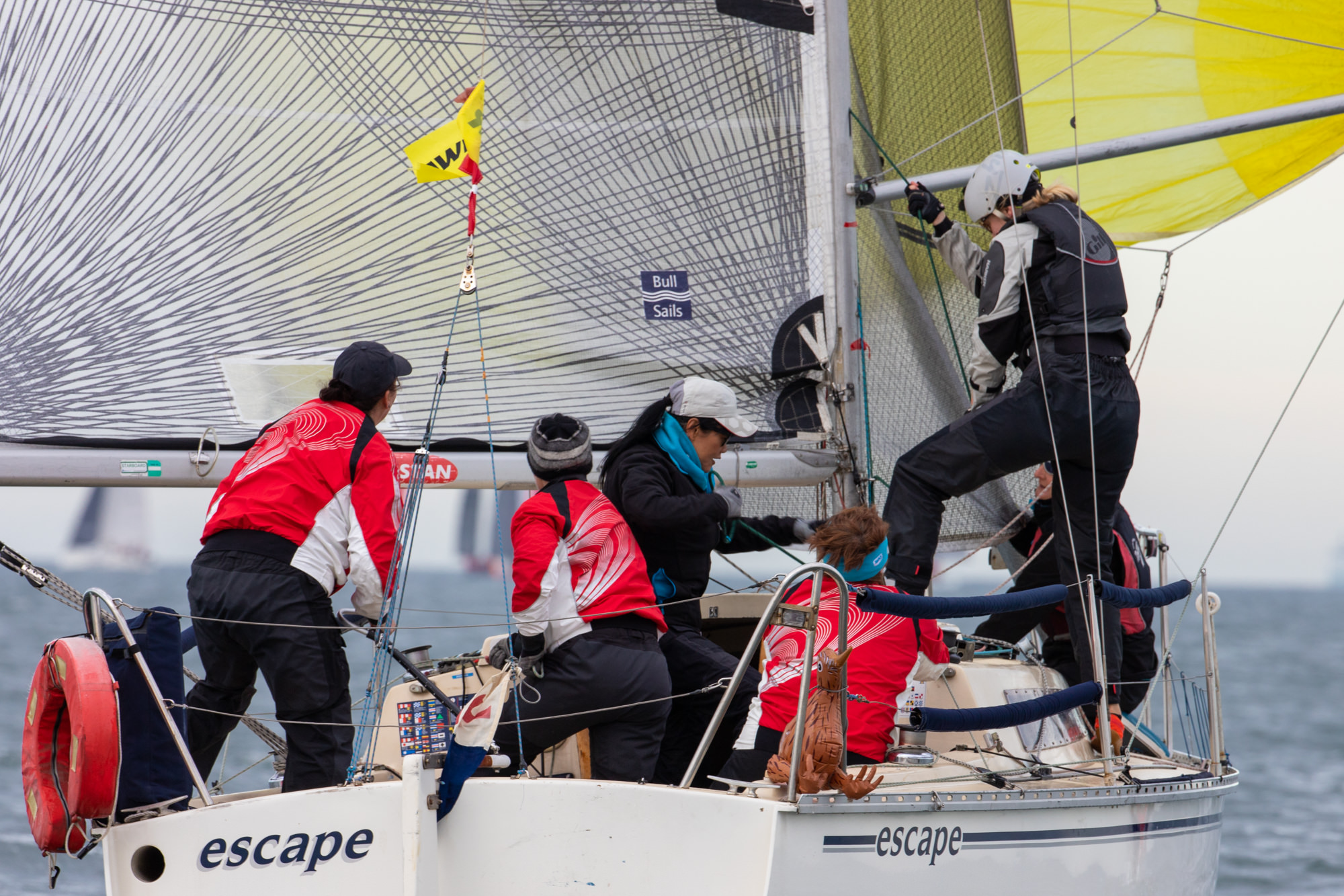 Competition ramps up with one day remaining at Australian Women's Keelboat Regatta