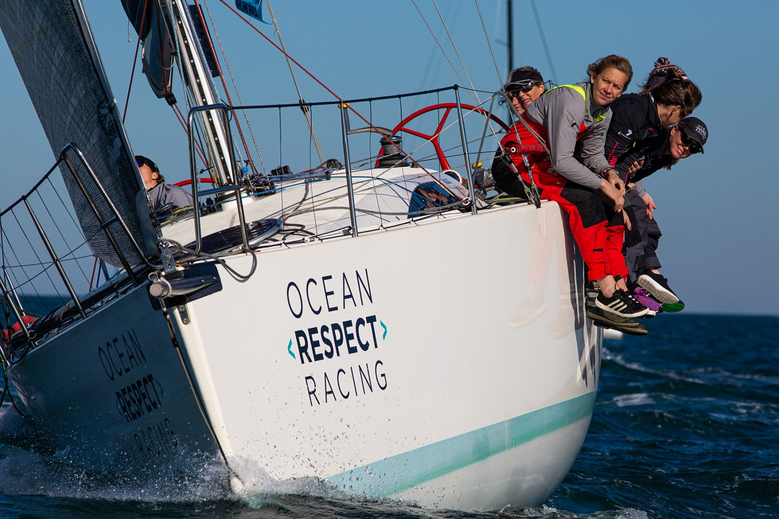 Ocean Respect Racing wins three from three on Day 1 at Australian Women's Keelboat Regatta