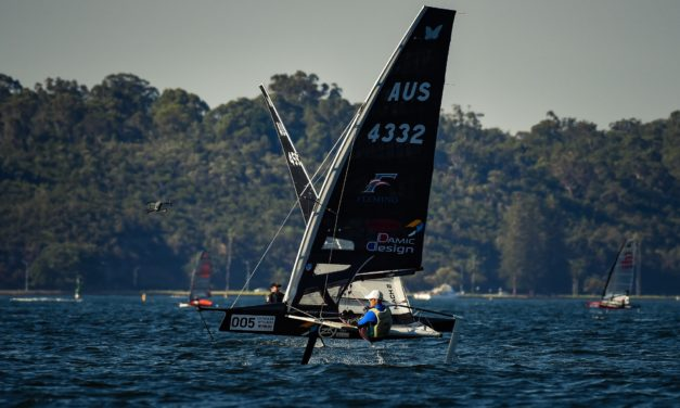 Slingsby and Burton flex their muscle on final day of Moth Worlds qualifying