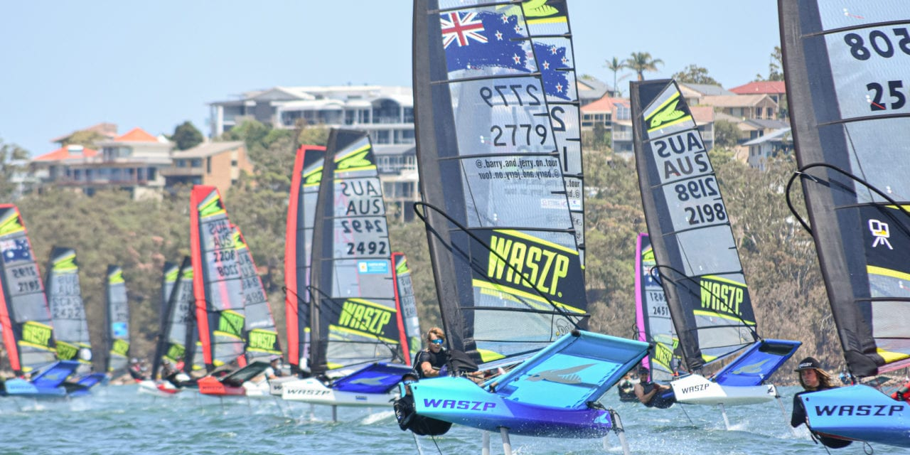 Class culture on display as Kiwis dominate 2020 Australian WASZP Championships
