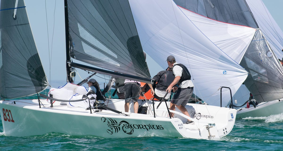 Rivalries renewed as super close racing kicks off 2020 Melges 24 Nationals